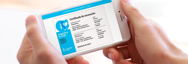 Mi Argentina será certificado de vacunación internacional